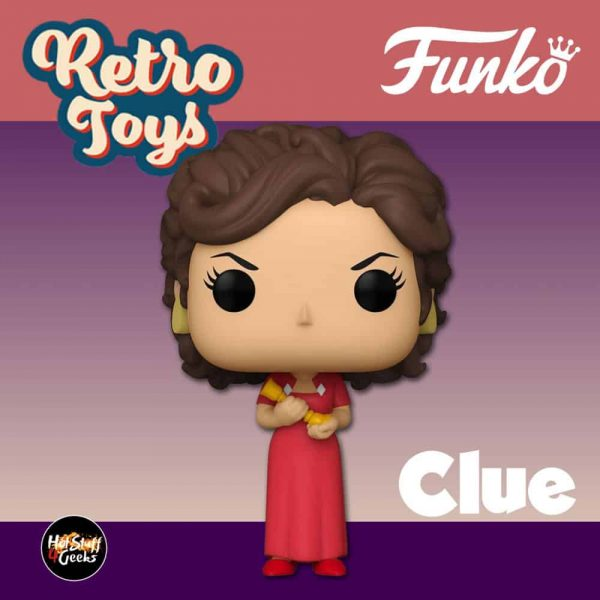 Funko Pop! Retro Toys: Clue - Miss Scarlet with Candlestick Funko Pop! Vinyl Figure