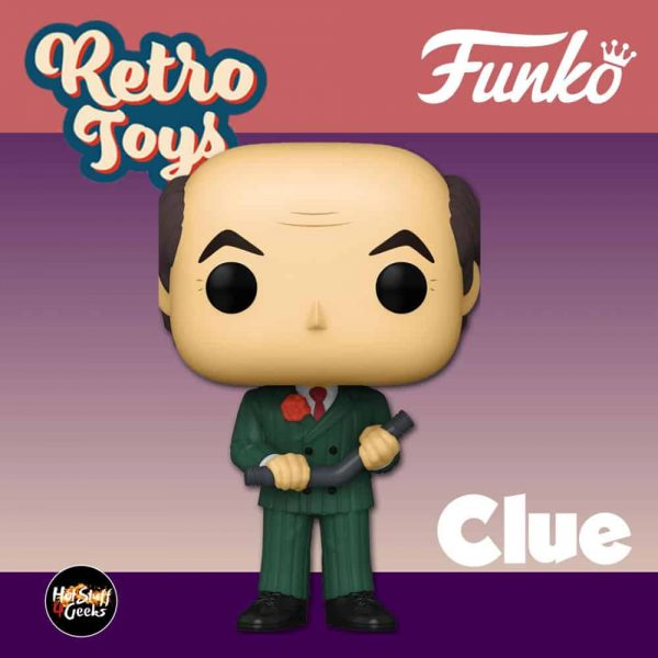 Funko Pop! Retro Toys: Clue - Mr. Green with Lead Pipe Funko Pop! Vinyl Figure