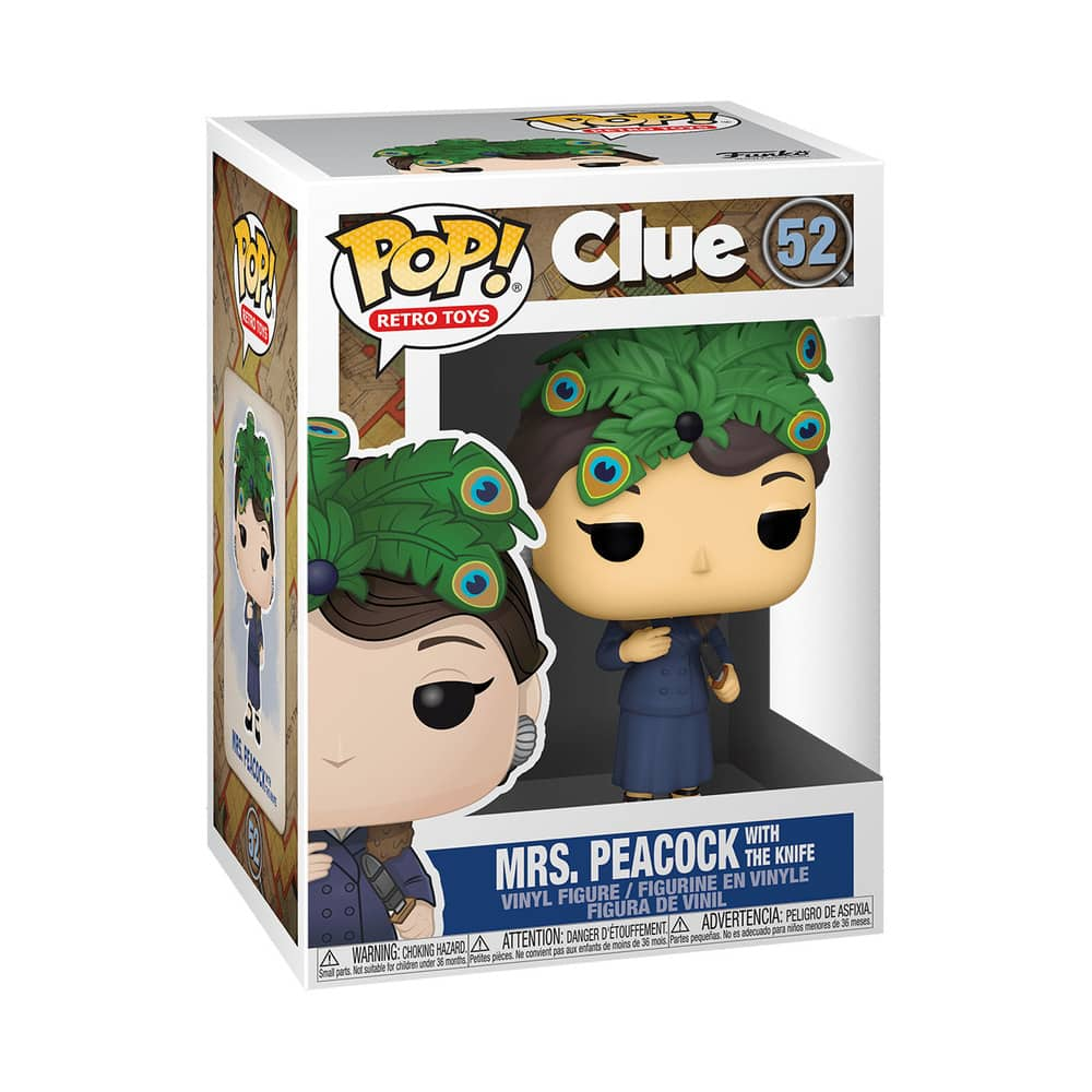Funko Pop! Retro Toys: Clue - Mrs. Peacock With The Knife Funko Pop! Vinyl Figure