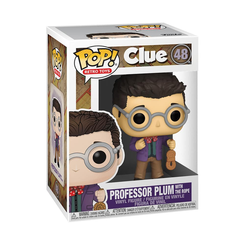 Funko Pop! Retro Toys: Clue - Professor Plum with Rope Funko Pop! Vinyl Figure