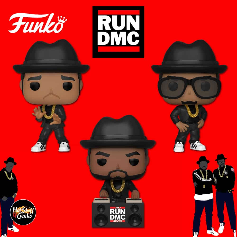 Funko Pop! Rocks: Run DMC - Jam Master Jay, DMC and RUN Funko Pop! Vinyl Figures