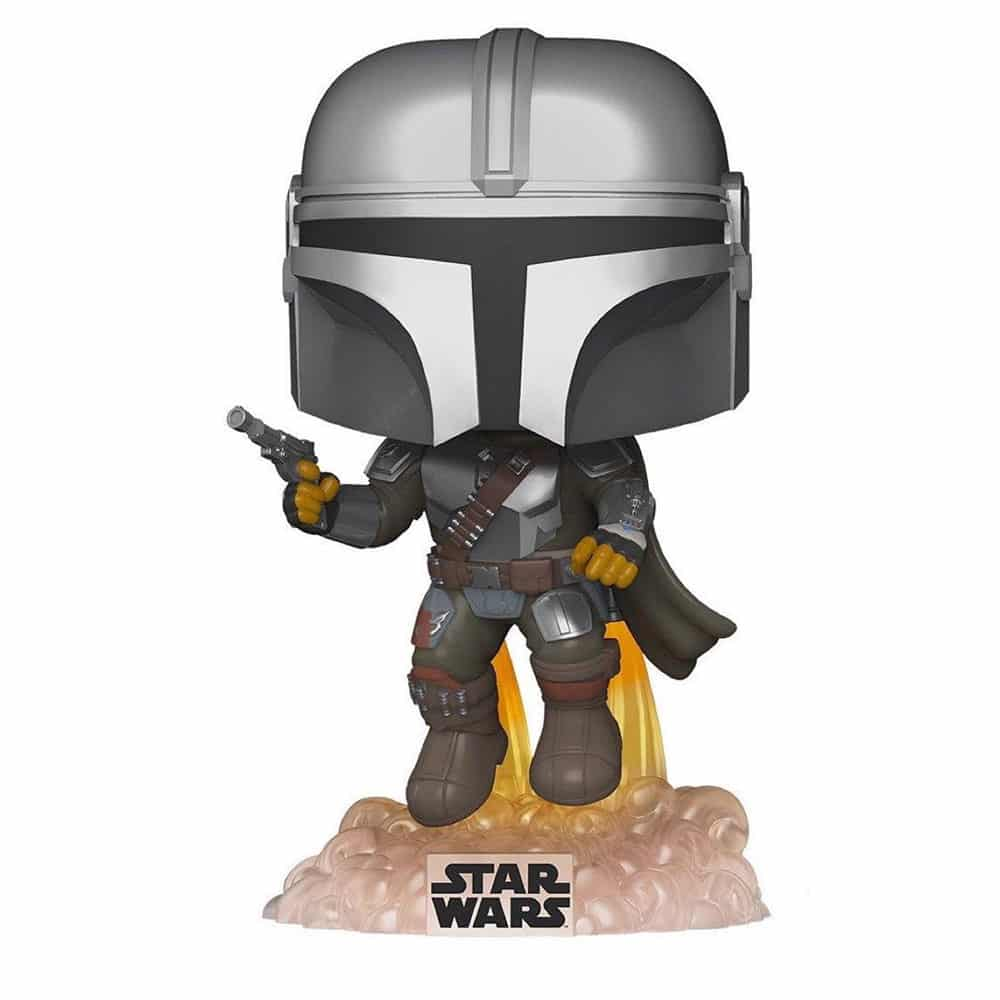 Funko Pop! Star Wars: The Mandalorian - Mandalorian Flying With Blaster Funko Pop! Vinyl Figure