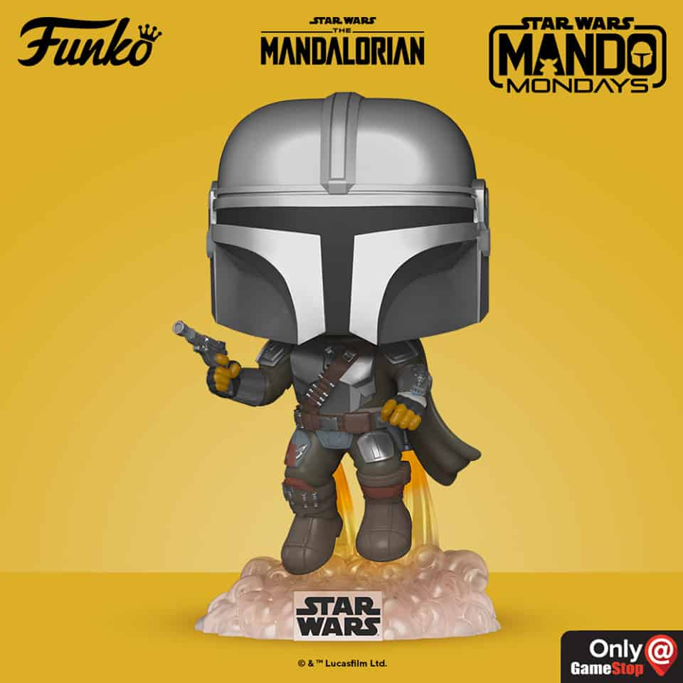 Funko Pop! Star Wars: The Mandalorian - Mandalorian Flying With Blaster Funko Pop! Vinyl Figure - GameStop Exclusive