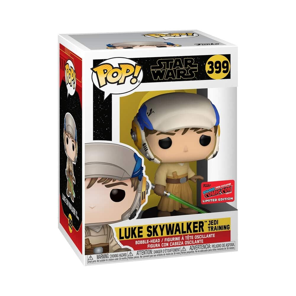 Funko Pop! Star Wars: The Rise of Skywalker - Luke Skywalker and Princess Leia The Jedi Training 2-Pack Bundle Funko Pop! Vinyl Figure - Funko Shop and NYCC 2020 Shared Exclusive