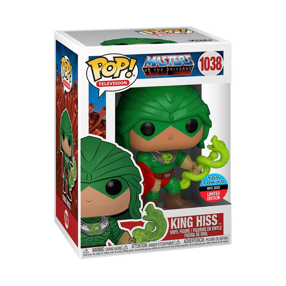 Funko Pop! Television: Masters of the Universe – King Hiss Funko Pop! Vinyl Figure - Toy Tokyo and NYCC 2020 Shared Exclusive