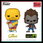 Funko Pop! Television: The Simpsons - Comic Book Guy(Hot Topic) Funko and Werewolf Bart (GameStop) Pop! Vinyl Figure - NYCC 2020 Shared Exclusives