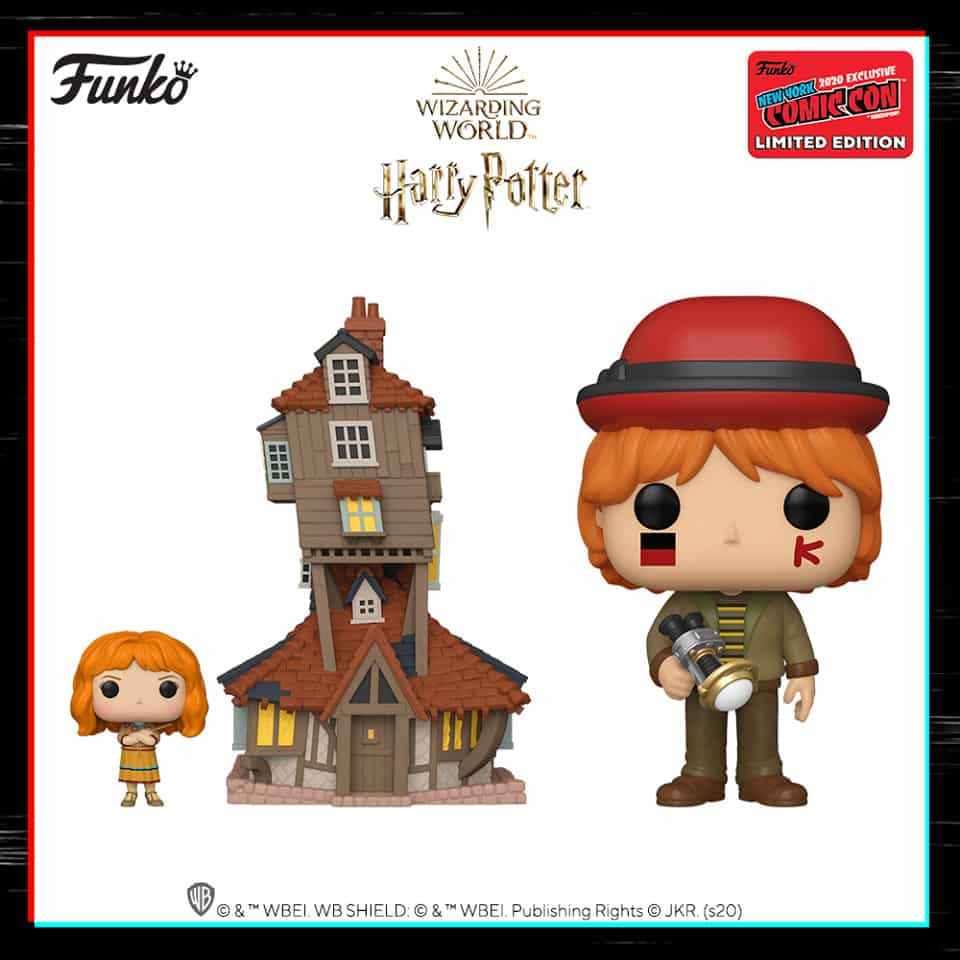 Funko Pop! Town: Harry Potter - The Burrow and Molly Weasley (Funko Shop) and Ron Weasley at World Cup (BAM) Funko Pop! Vinyl Figure - NYCC 2020 Shared Exclusive Exclusive