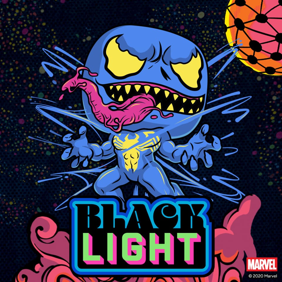Funko Pop! Carnage Black Light Funko Pop! Vinyl Figure and Funko Poster Rocket & Groot and Venom Black Light - Funko Shop Exclusives