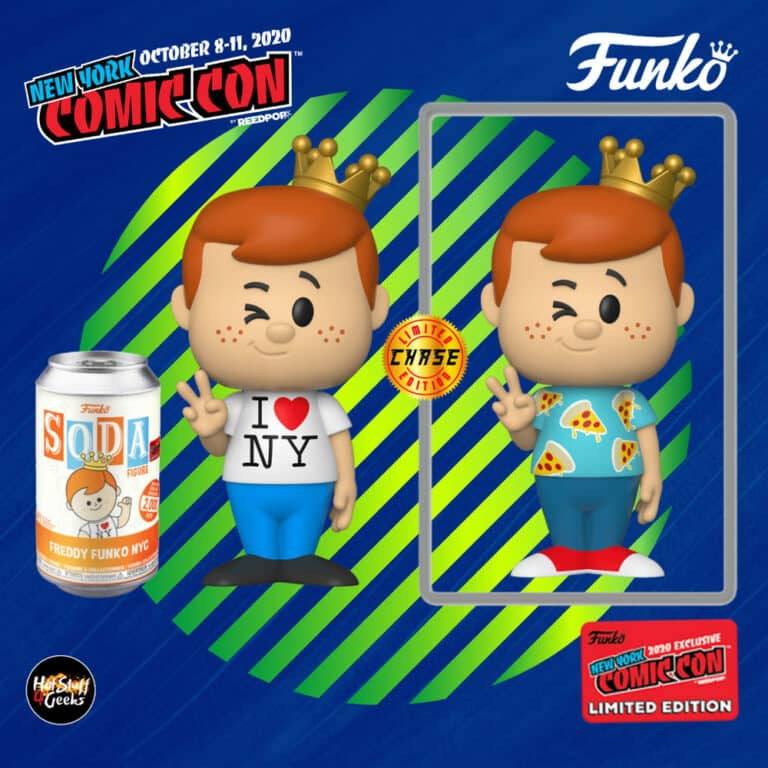 Funko Vinyl Soda: Funko - Freddy Funko with NYC Tee With Chase Variant Soda Figure - Funko Shop and NYCC 2020 Shared Exclusive
