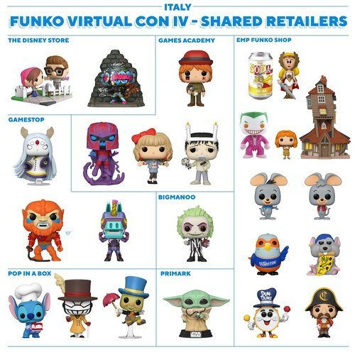 Italy - Funko NYCC 2020 Shared Retailers