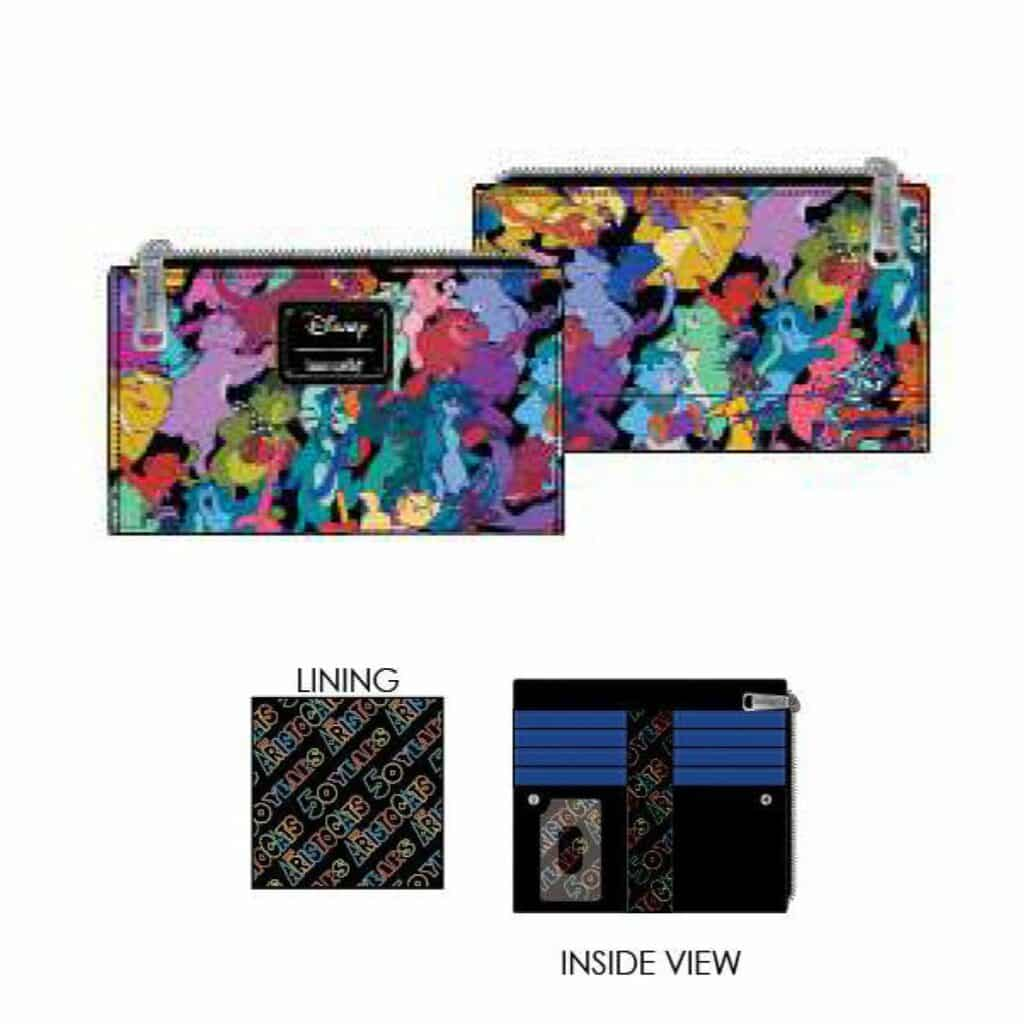 Loungefly Aristocats Jazzy Cats Flap Wallet by Loungefly