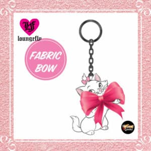 Loungefly Aristocats Marie Bow Enamel Key Chain by Loungefly