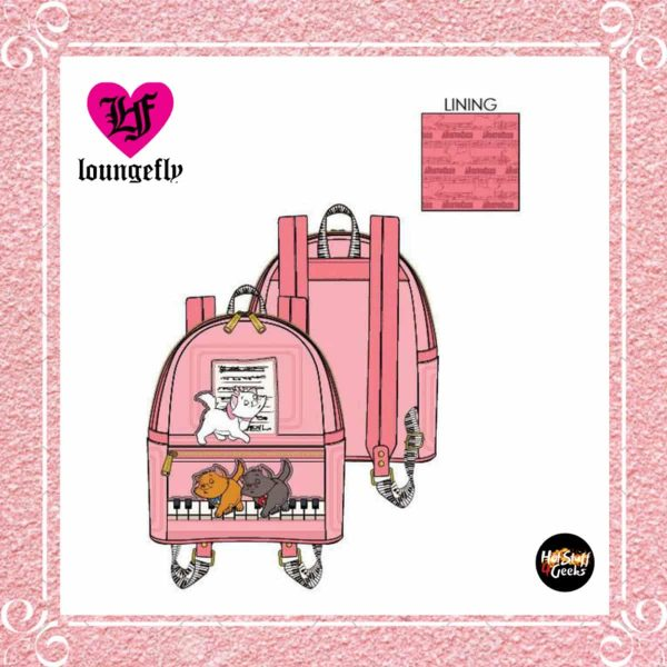Loungefly Aristocats Piano Kittens Mini-Backpack by Loungefly
