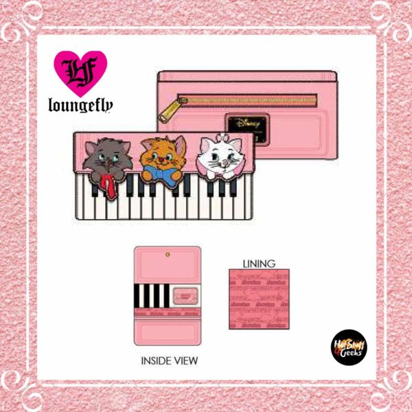 Loungefly Aristocats Piano Kittens Tri-Fold Wallet by Loungefly