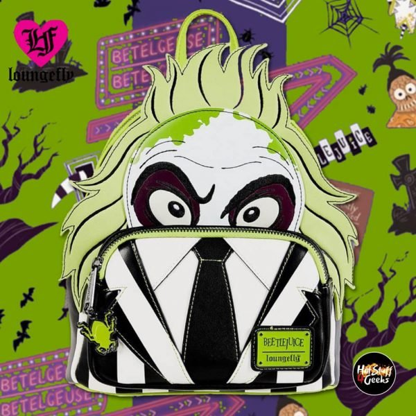 Loungefly Beetlejuice Mini Backpack - Very Neko Exclusive