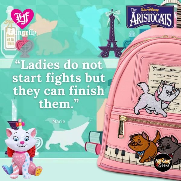 Loungefly Disney Aristocats Piano Kittens Mini-Backpack and Wallet