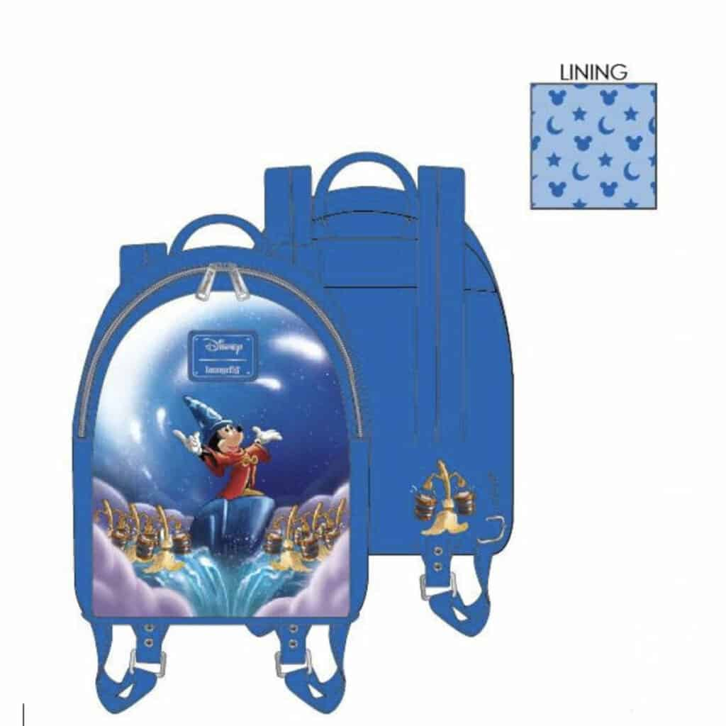 Loungefly Disney Fantasia Sorcerer Mickey Mini-BackPack by Loungefly