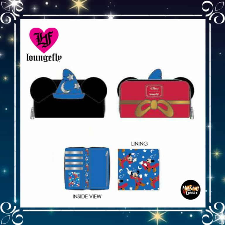 Loungefly Disney Fantasia Sorcerer Mickey Mouse Zip-Around Wallet by Loungefly