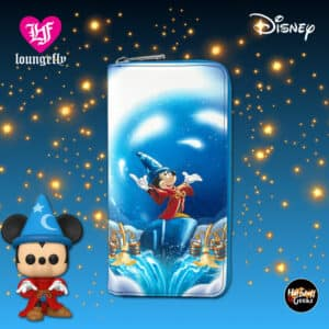 Loungefly Disney Fantasia Sorcerer Mickey Mouse Zip-Around Wallet
