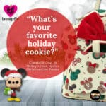 Loungefly Disney: Mickey Minnie Christmas Cookies Mini-Backpack With Matching Ears and Wallet