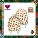 Loungefly Disney Mickey Minnie Christmas Cookies Mini-Backpack With Matching Ears by Loungefly