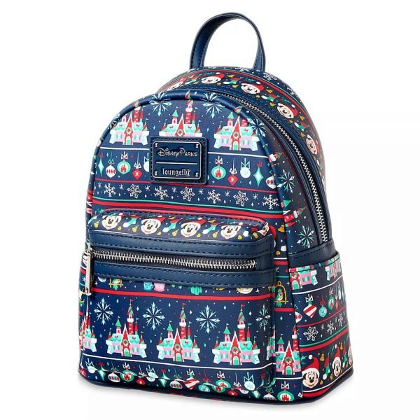 Loungefly Disney: Mickey Mouse Holiday Mini Backpack - Disney Parks Exclusive