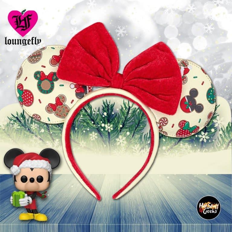 Loungefly Disney Mickey and Minnie Christmas Cookies Ears Headband