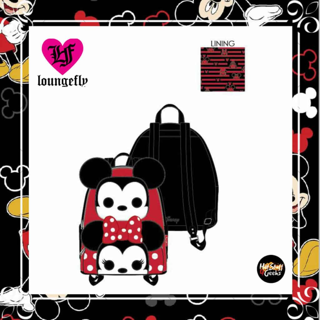 Loungefly Disney Mickey and Minnie Pop! by Loungefly Cosplay Mini-Backpack by Loungefly