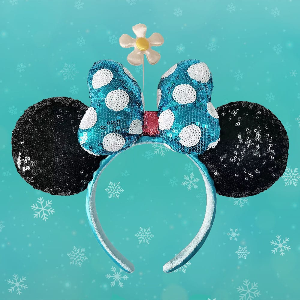 Loungefly Disney Minnie Mouse Sequined Ear Headband with Flower