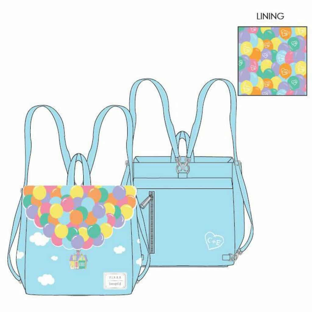 Loungefly Disney Pixar UP Balloon House Flap Backpack by Loungefly