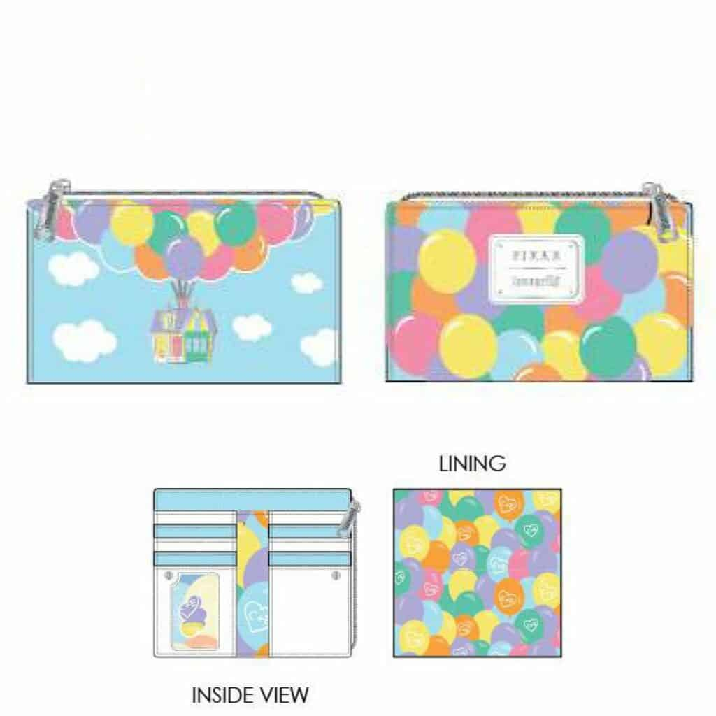 Loungefly Disney Pixar UP Balloon House Flap Wallet by Loungefly