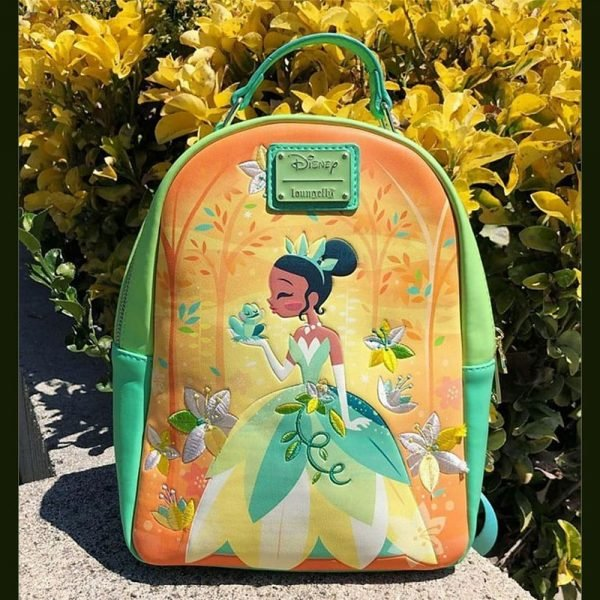 Loungefly Disney Princess and the Frog Tiana Naveen Kiss Mini Backpack