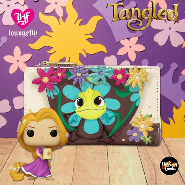 Loungefly Disney Tangled Pascal Flower Flap Wallet