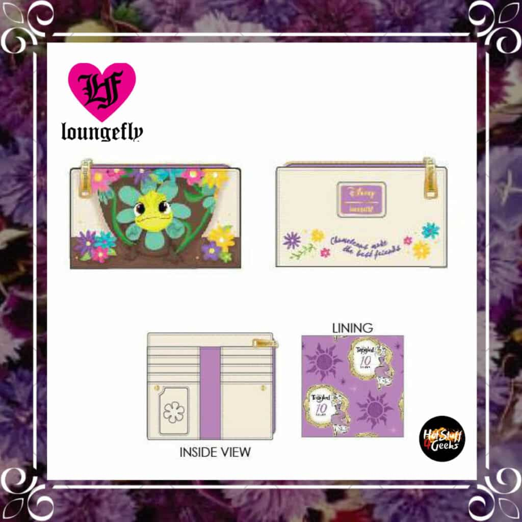 Loungefly Disney Tangled Pascal Flower Flap Wallet by Loungefly