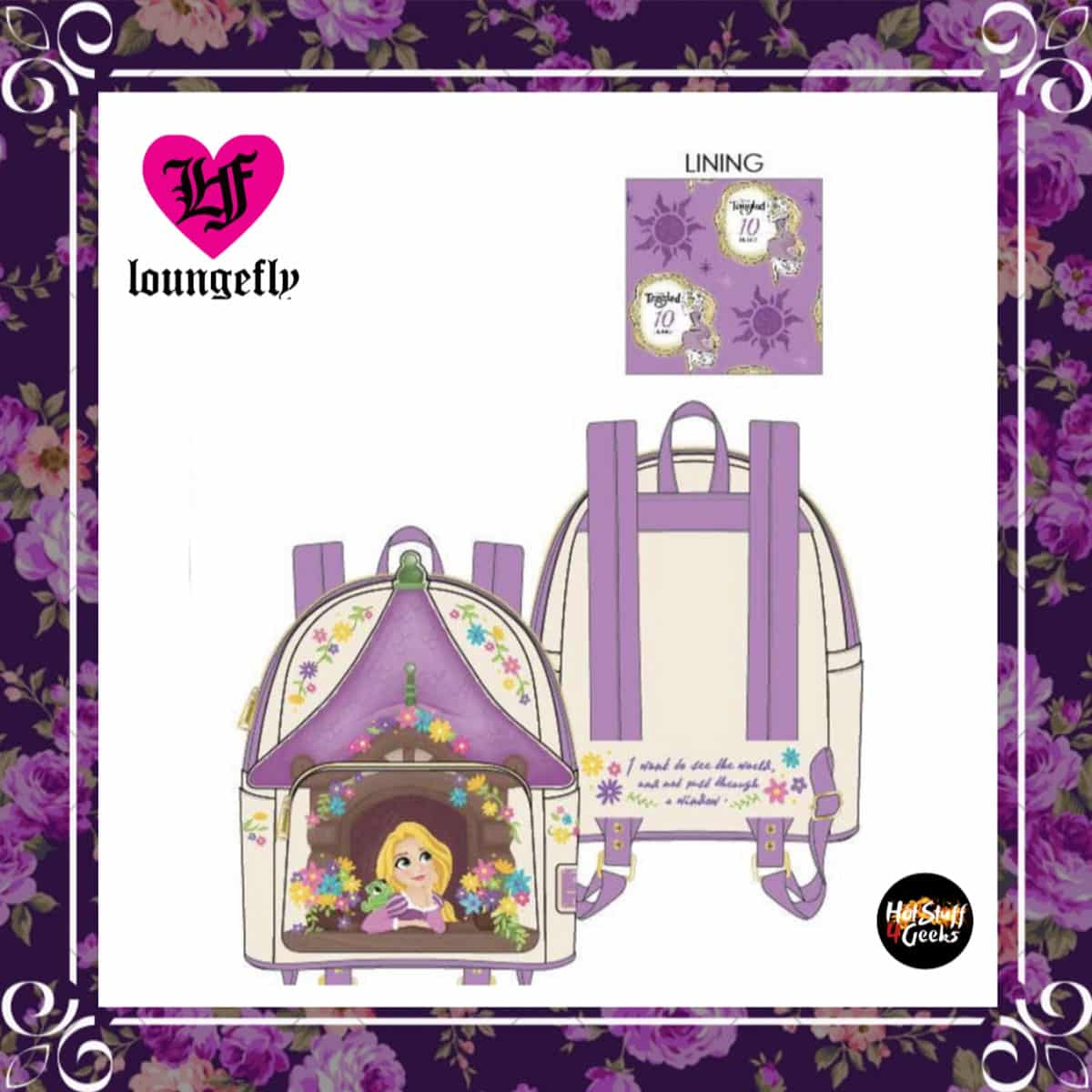 2020 New Loungefly Tangled Tower Scene Mini Backpack Hot Stuff 4 Geeks