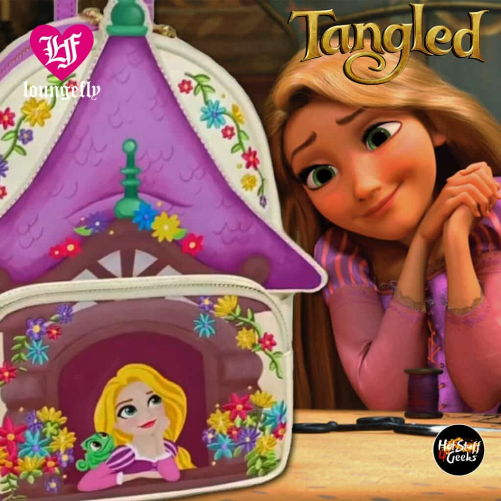 Loungefly Disney Tangled Tower Scene Mini Backpack by Loungefly
