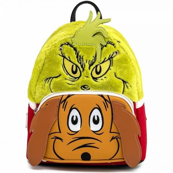 Loungefly Dr. Seuss Grinch and Max Mini Backpack