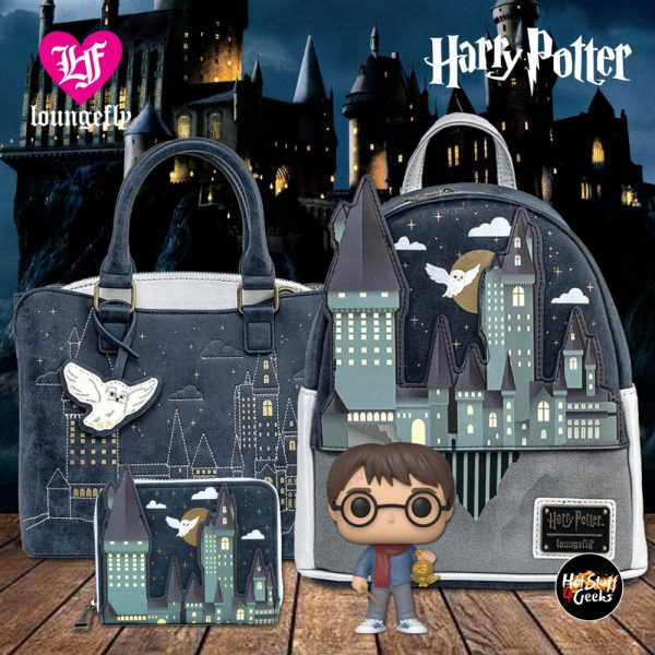 Loungefly Harry Potter Hogwarts Castle Mini-Backpack, Purse and Wallet