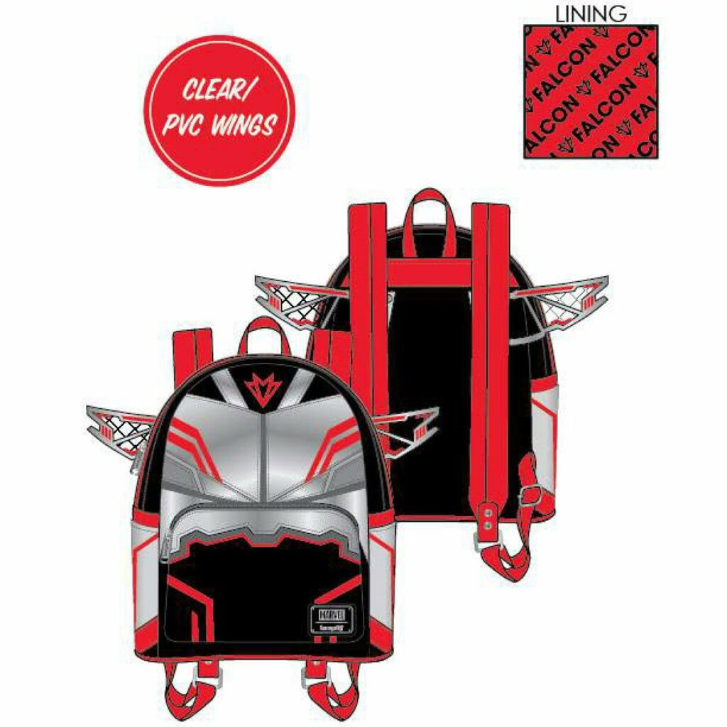 Loungefly Marvel Falcon Cosplay Mini-Backpack by Loungefly
