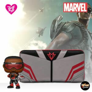 Loungefly Marvel Falcon Cosplay Zip-Around Wallet