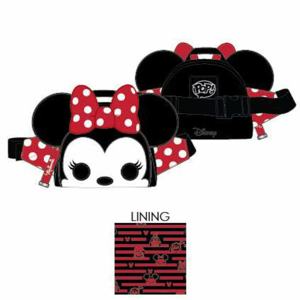 Loungefly Minnie Mouse Pop! by Loungefly Fanny Pack by Loungefly