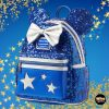 Loungefly Minnie Mouse Sequined Mini Backpack – Wishes Come True Blue - Disney Parks Exclusive