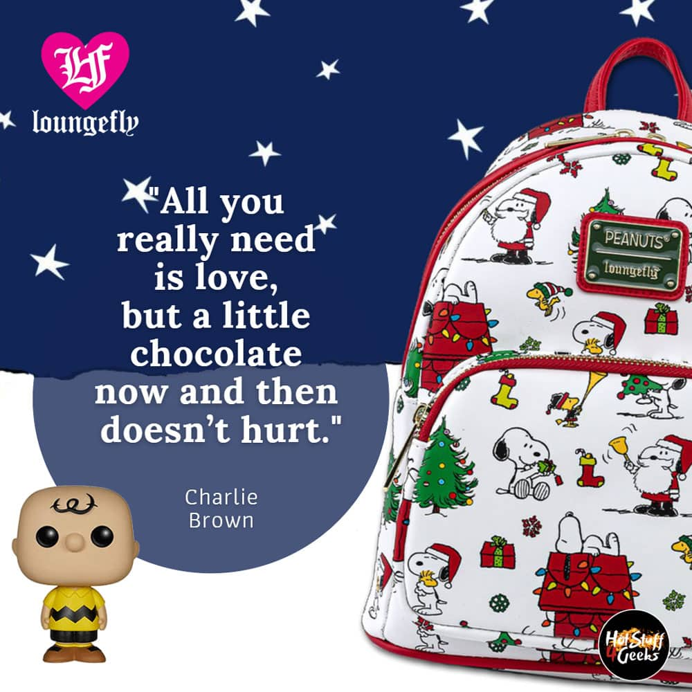 Loungefly Peanuts: Snoopy Holiday Mini-Backpack and Wallet