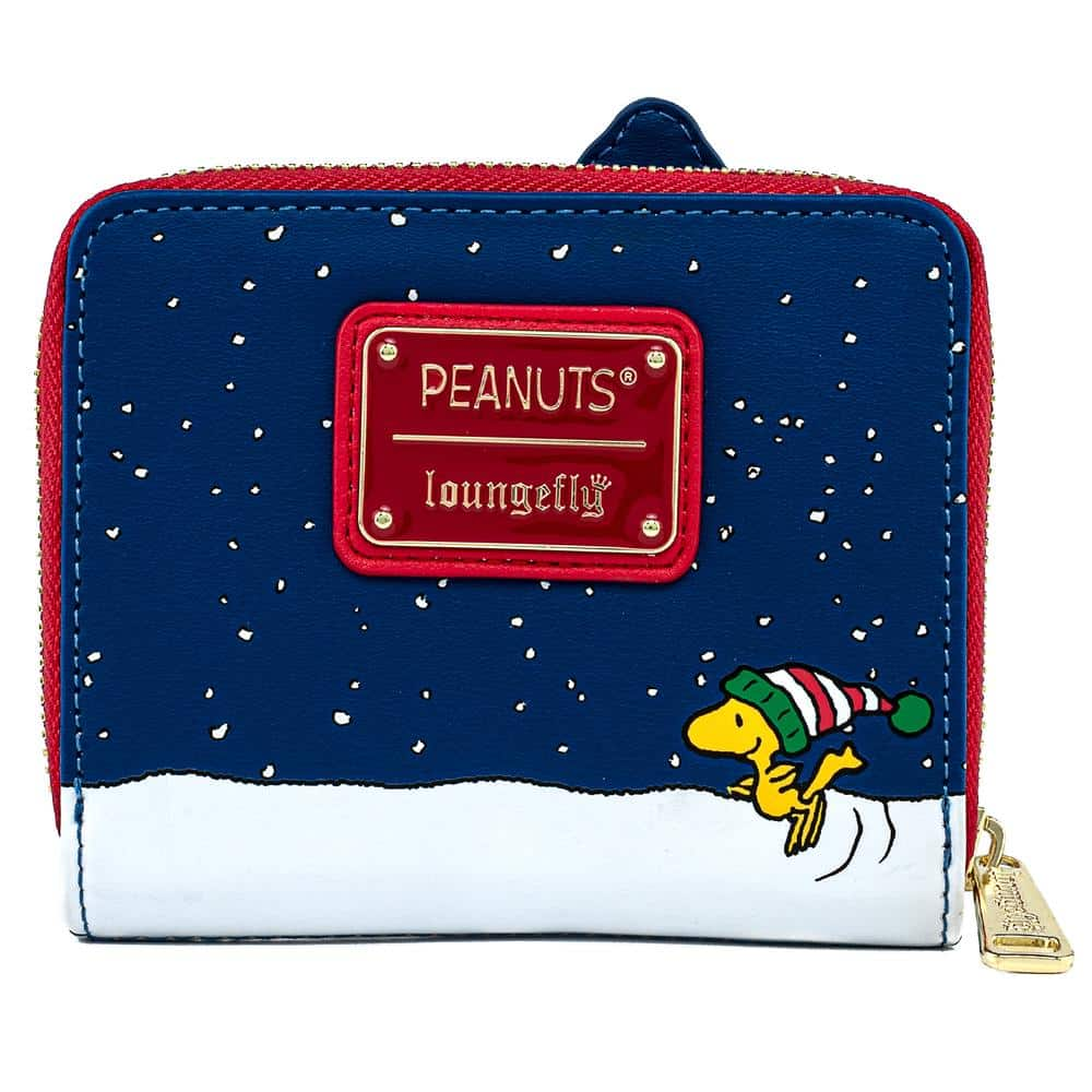 Loungefly Peanuts Snoopy House Holiday Zip-Around Wallet