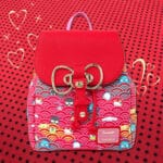 Loungefly Sanrio 60th Anniversary Gold Bow Flap Backpack