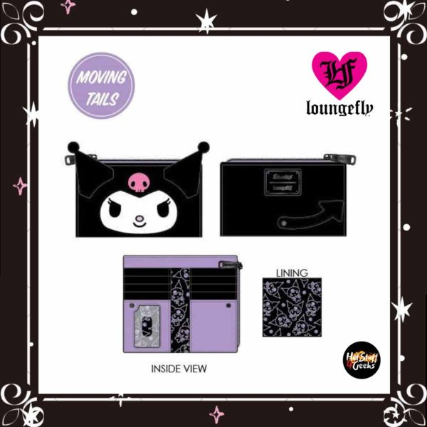 Loungefly Sanrio Kuromi Cosplay Flap Wallet by Loungefly