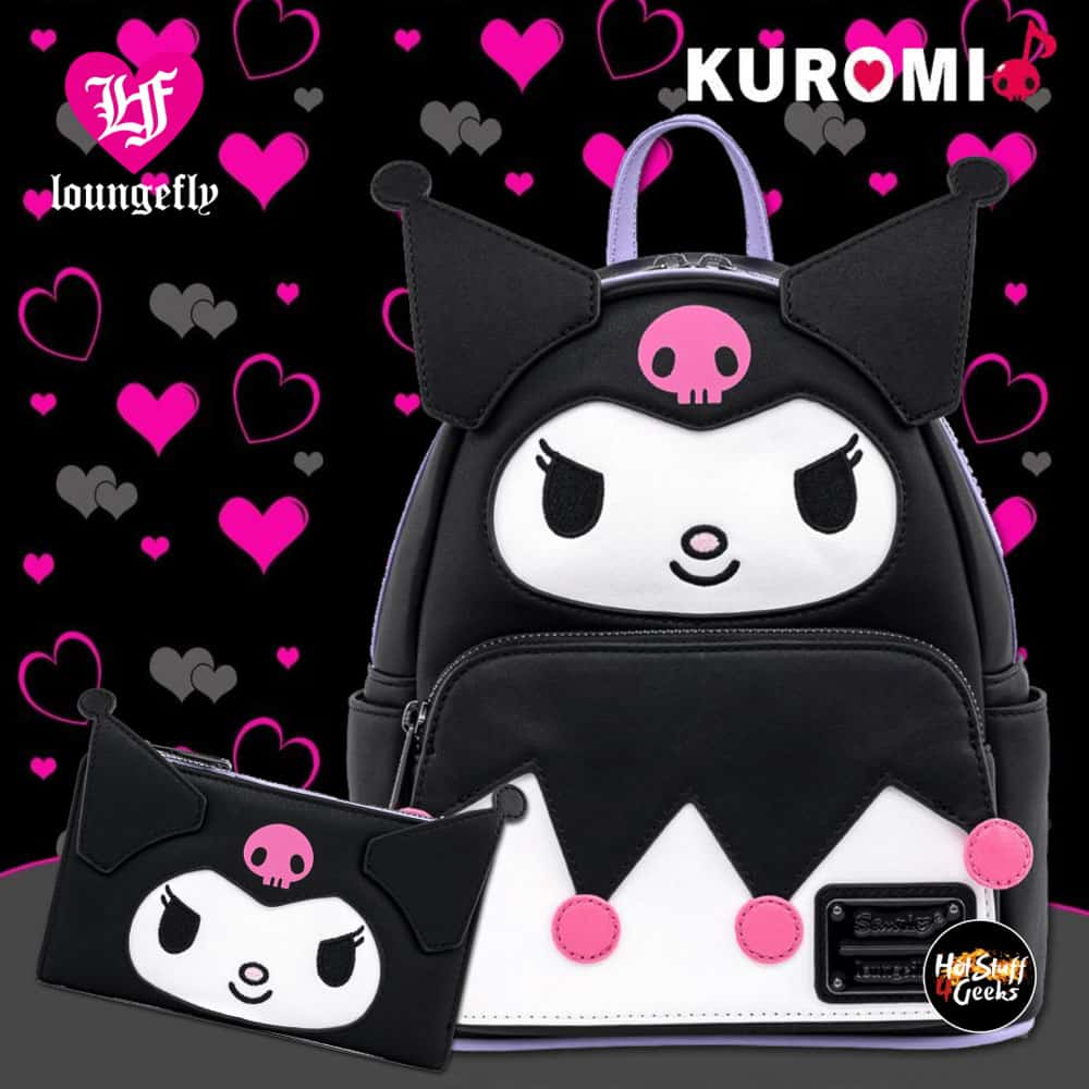 Loungefly Sanrio Kuromi Cosplay Mini-Backpack and Wallet