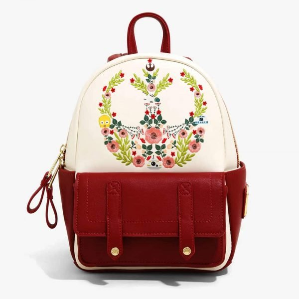 Loungefly Star Wars: Floral Rebel Symbol 2-Tone Mini Backpack - BoxLunch Exclusive