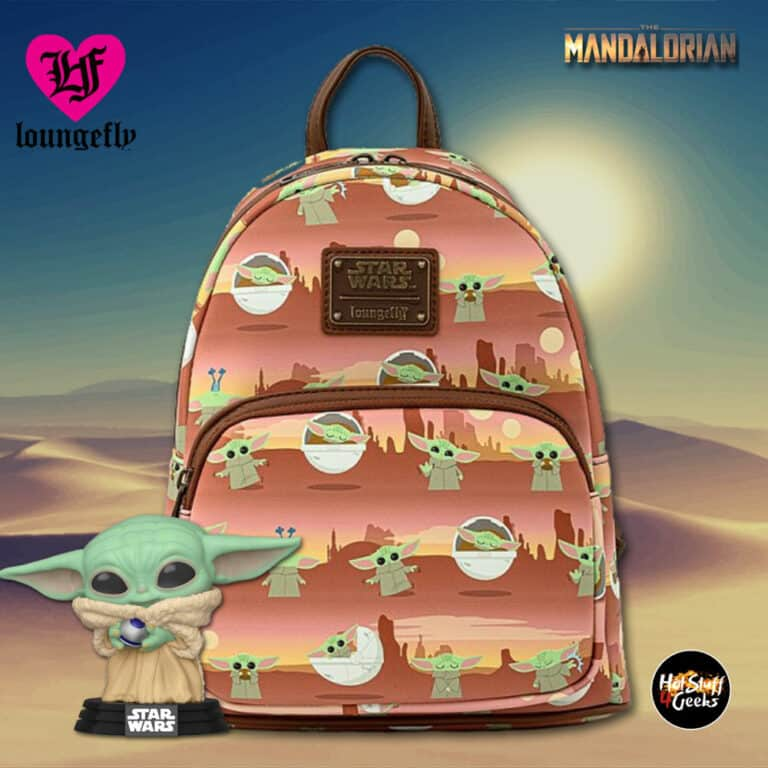 Loungefly Star Wars The Mandalorian: The Child AOP Scene Mini Backpack