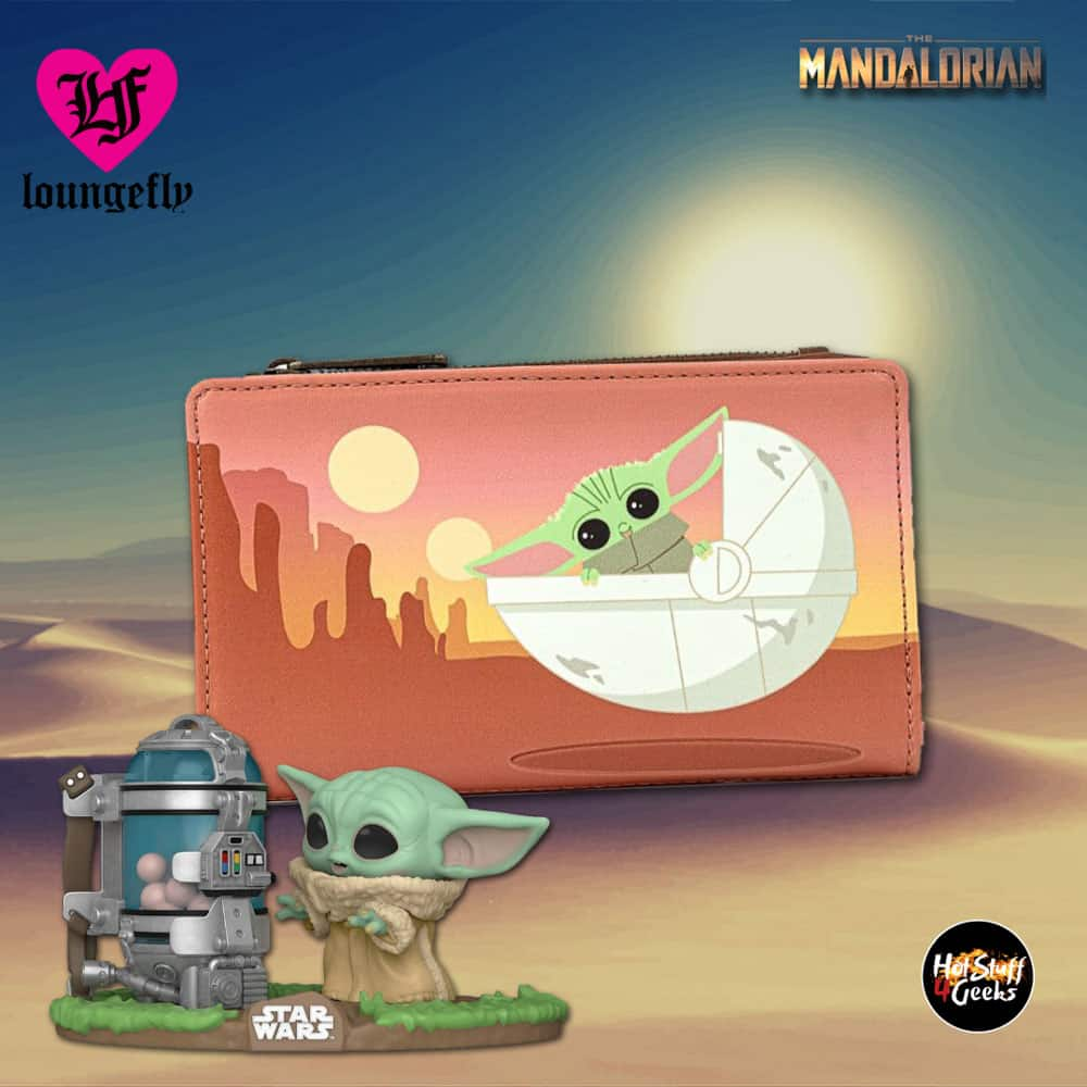Loungefly Star Wars The Mandalorian The Child Wait For Me Wallet